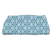 Water Mosaic Geometric Print Bath Towel