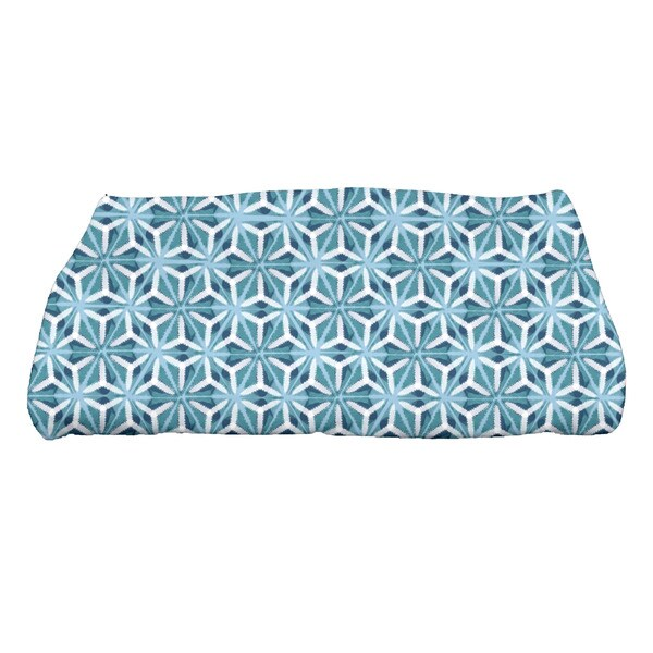 Water Mosaic Geometric Print Bath Towel