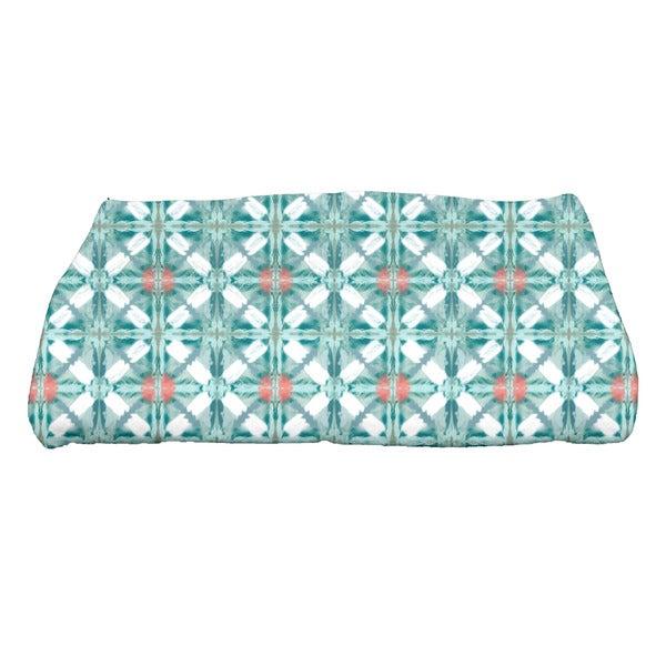 Beach Tile Geometric Print Bath Towel
