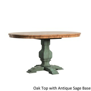 Eleanor Two-tone Oval Solid Wood Top Extending Dining Table by iNSPIRE Q Classic