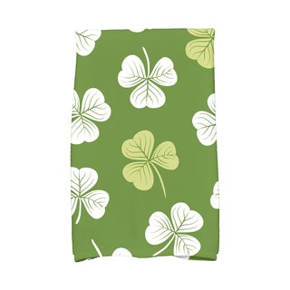 Lucky Holiday Floral Print Kitchen Towel