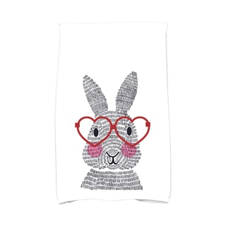 What's Up Bunny? Holiday Animal Print Kitchen Towel