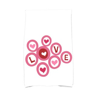 Love in the Round Holiday Geometric Print Kitchen Towel