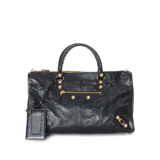 Balenciaga Giant 12 Work Black Leather Handbag