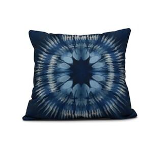 Shibori Burst Geometric Print Outdoor Pillow