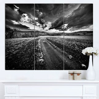 Designart 'Black White Landscape from Sardinia' Landscape Wall Artwork Canvas