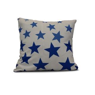 Just Stars Geometric Print Outdoor Pillow