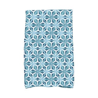 Water Mosaic Geometric Print Kitchen Towel