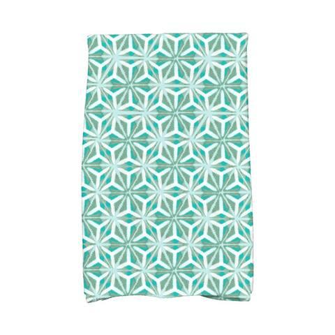 Water Mosaic Geometric Print Kitchen Towel