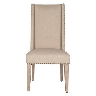 Grey Manor Emerson Tan Fabric Dining Chair (Set of 2)