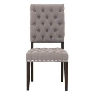 Grey Manor York Ash Belgian Cotton Dining Chairs (Set of 2)
