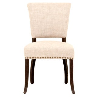 Grey Manor Newton Bisque French Linen Dining Chairs (Set of 2)