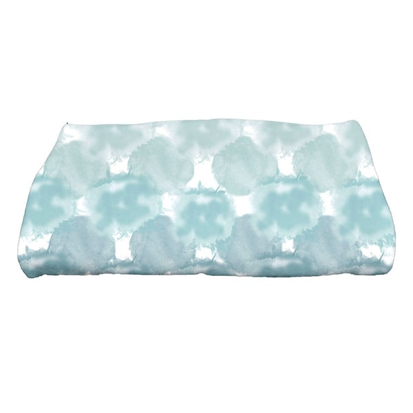 28 x 58-inch, Beach Clouds, Geometric Print Bath Towel