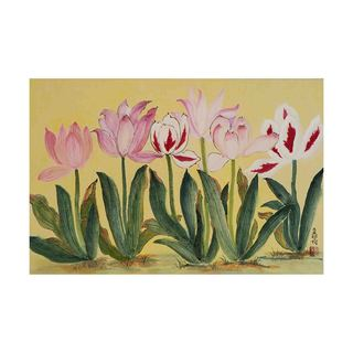 Tulips Canvas by Jamaliah Morais