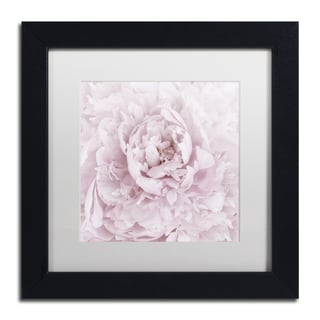 Cora Niele 'Pink Peony Flower' Matted Framed Art