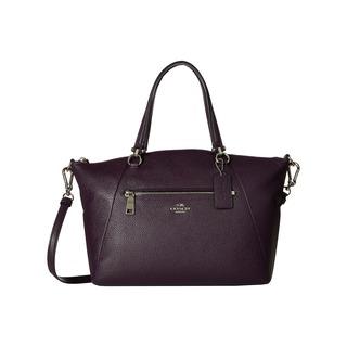 Coach Prairie Silver and Augergine Leather Satchel Handbag