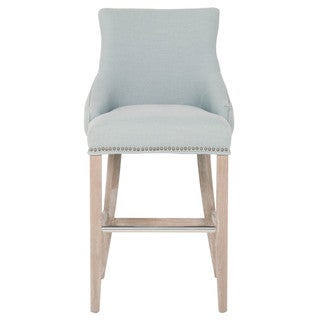 Grey Manor Norman Spruce Fabric Barstool