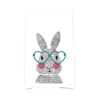 What's Up Bunny? Holiday Animal Print Hand Towel