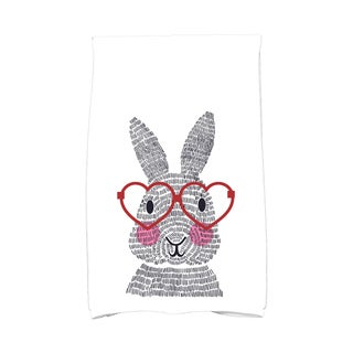 What's Up Bunny? Holiday Animal Print Hand Towel