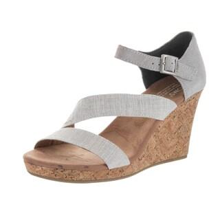 Toms Shoes Women's Clarissa Beige Fabric Casual Shoe