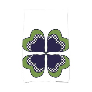 4 Leaf Clover Holiday Floral Print Hand Towel