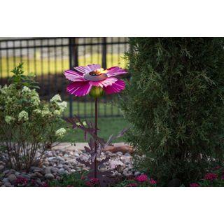 Cosmos Pink Steel Garden Torch
