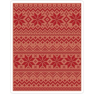 Sizzix Texture Fades A2 Embossing Folder-Holiday Knit #2 By Tim Holtz