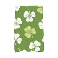 Lucky Holiday Floral Print Hand Towel