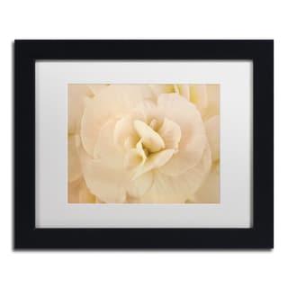 Cora Niele 'Amber Begonia Flower' Matted Framed Art