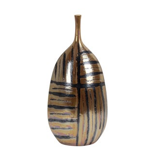 Jasaw Decorative Striped Ceramic Vase