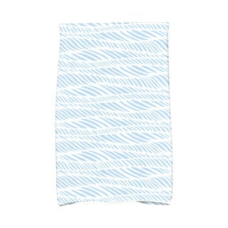 Rolling Waves Geometric Print Hand Towel