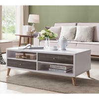Arella I Mid-Century Modern White Coffee Table by FOA