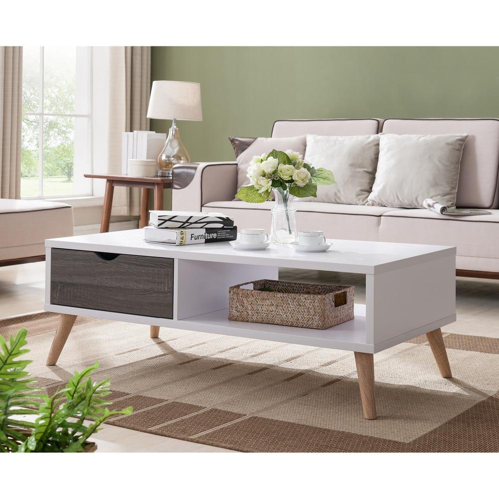 - Shop Furniture Of America Bjua Modern Grey Drawer Coffee Table - On Sale -  Overstock - 13536471