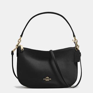 Coach Women's Chelsea Black Pebbled Leather Crossbody Handbag