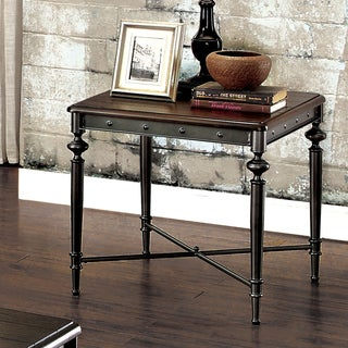Grimwell Industrial Matte Dark Grey End Table by FOA