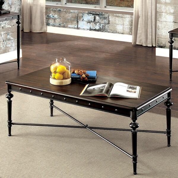Shop Grimwell Industrial Matte Dark Grey Coffee Table By