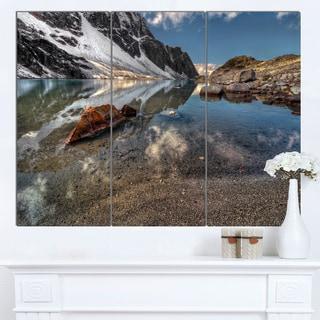 Designart 'Sapphire Mountain Lake View' Landscape Artwork Canvas Print