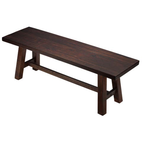 Cortesi Home Figi Rustic Wood Dining Bench