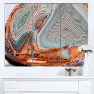 DesignArt 'Beautiful Lake Superior Agate' Modern Abstract Canvas Print