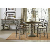 Havenside Home Huntington Grey Round Counter Table