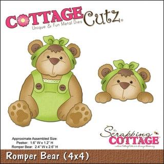 "CottageCutz Die-Romper Bear 2.4""X2.6"", Peeker 1.6""X1.2"""