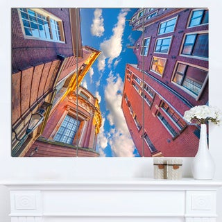 Designart 'Authentic Dutch Architecture' Extra Large Cityscape Wall Art on Canvas