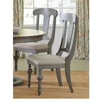 The Gray Barn Copper Sunrise Grey Oak Slat Dining Chairs (Set of 2)