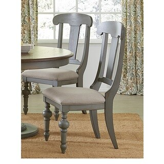 Progressive Colonnades Grey Oak Slat Dining Chairs (Set of 2)