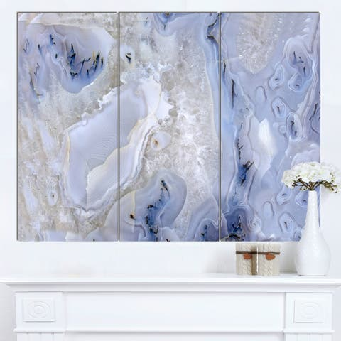 Designart 'Agate Stone Background' Abstract Canvas Wall Art Print