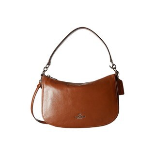 Coach Chelsea Saddle Brown Pebbled Leather Crossbody Handbag