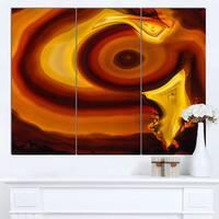Designart 'Agate Geode Slice Macro' Abstract Canvas Wall Art Print