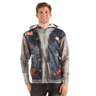 Faux Real Biker Polyester Sweatshirt