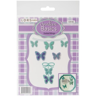 Little Darlings Dies 4/Pkg-Dotted Wings