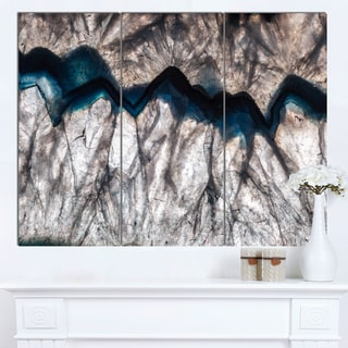 Designart 'Backlit Mineral Macro' Abstract Canvas Wall Art Print